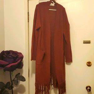 Long Woman's Cardigan Sweater